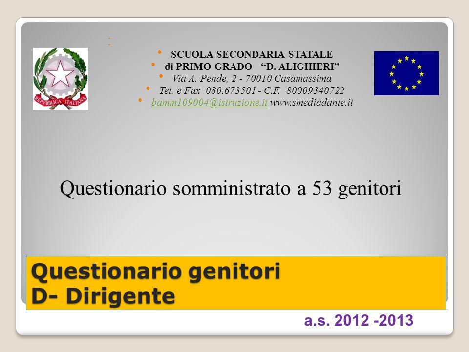 SCUOLA SECONDARIA STATALE di PRIMO GRADO D. ALIGHIERI Via A.