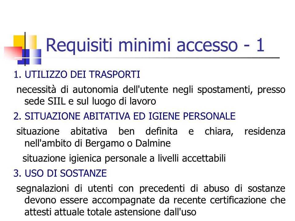 Requisiti minimi accesso - 1 1.