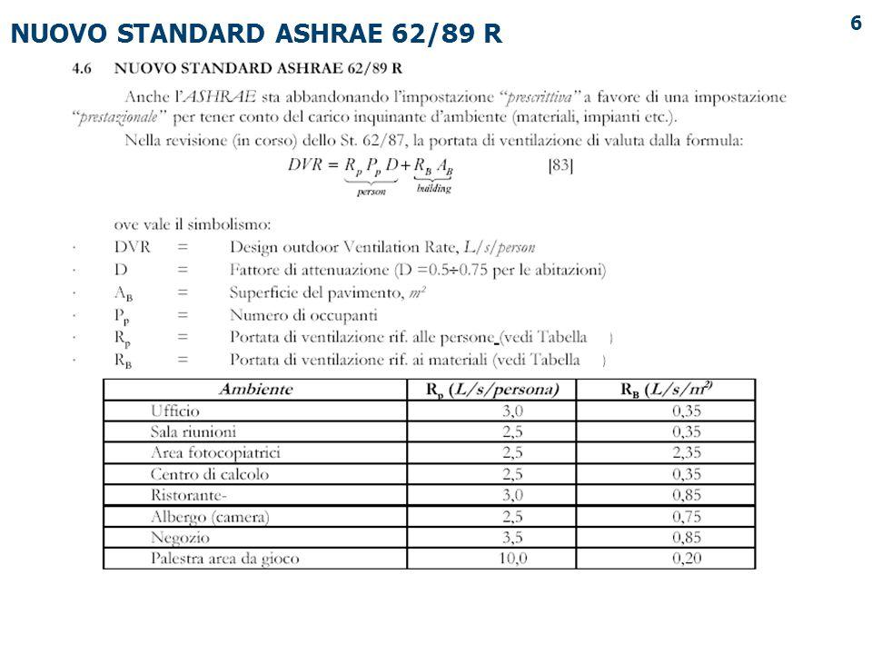 6 NUOVO STANDARD ASHRAE 62/89 R