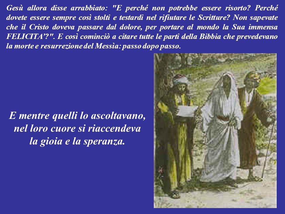 """I due così gli raccontarono: """"Il popolo ed i sommi sacerdoti, tre giorni fa hanno fatto crocifiggere Gesù: un profeta di Nazaret che parlava ed agiva"""