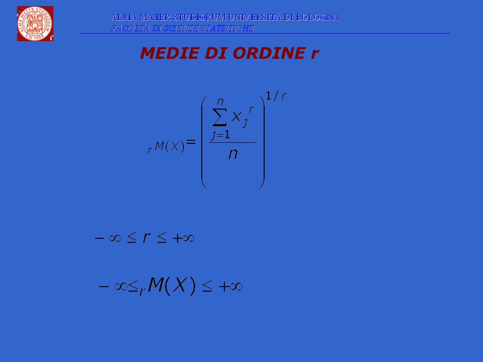 MEDIE DI ORDINE r