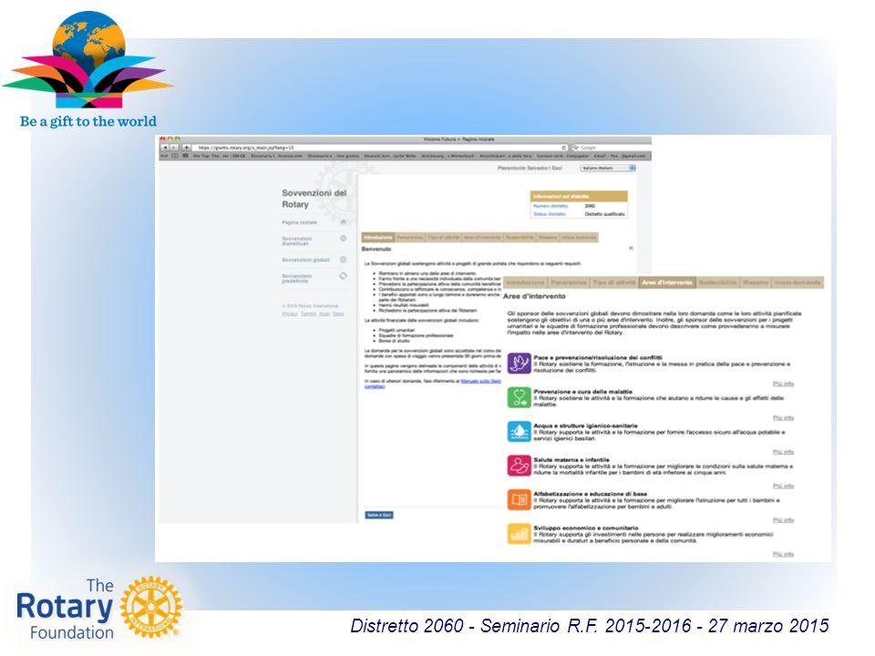Distretto 2060 - Seminario R.F. 2015-2016 - 27 marzo 2015