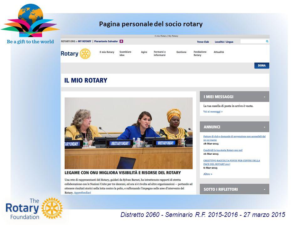 Pagina personale del socio rotary