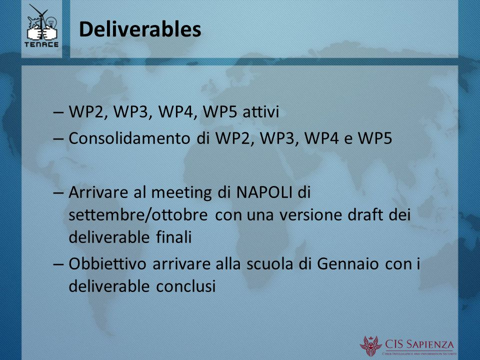 Altre attività: workshop 2 nd International Workshop on Reliability and Security Data Analysis (RSDA 2014) – Nov 3‐6, colocato con ISSRE, Napoli – Rif:Antonio Pecchia (UNINA)