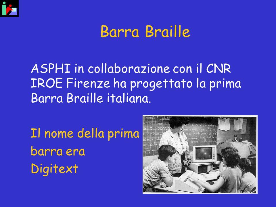 Barra Braille ASPHI in collaborazione con il CNR IROE Firenze ha progettato la prima Barra Braille italiana.