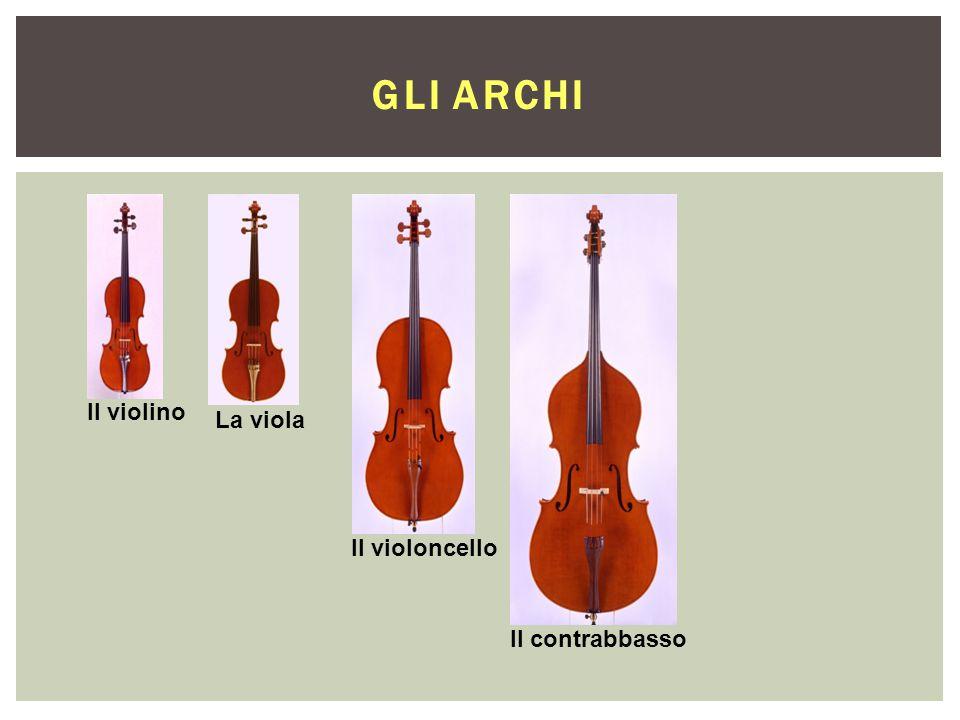 Il violino La viola Il violoncello Il contrabbasso