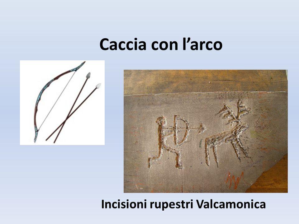 Caccia con l'arco Incisioni rupestri Valcamonica