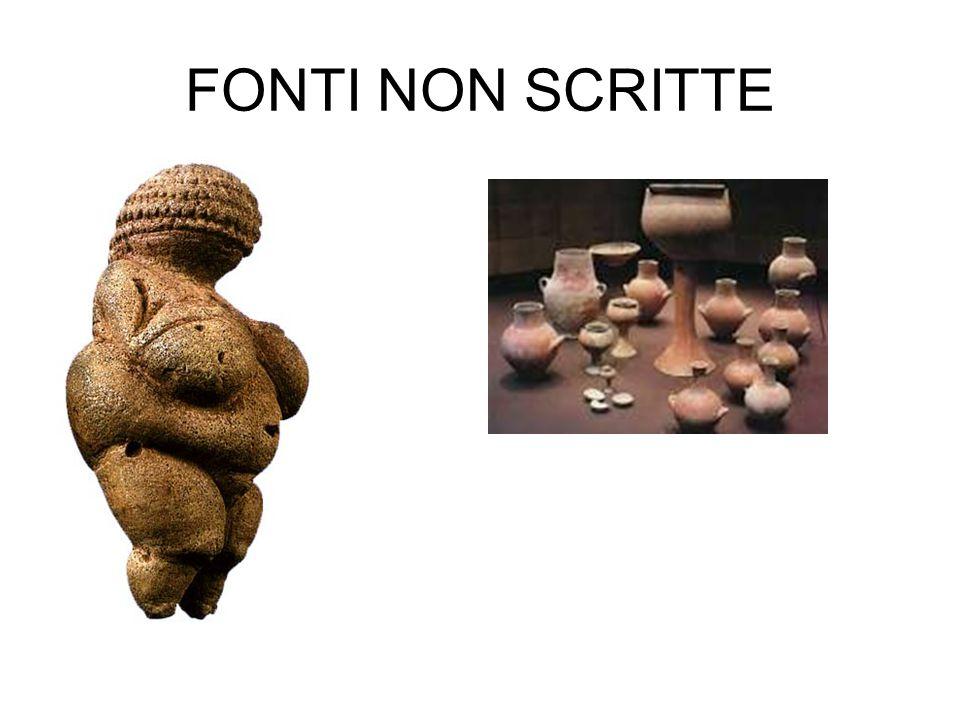 FONTI NON SCRITTE