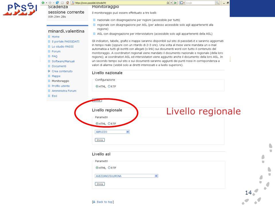 14 Livello regionale