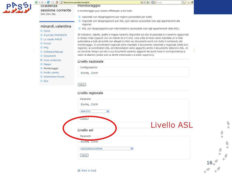 16 Livello ASL