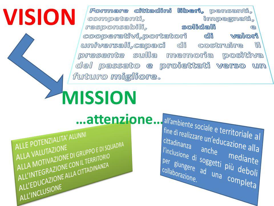 VISION MISSION …attenzione…