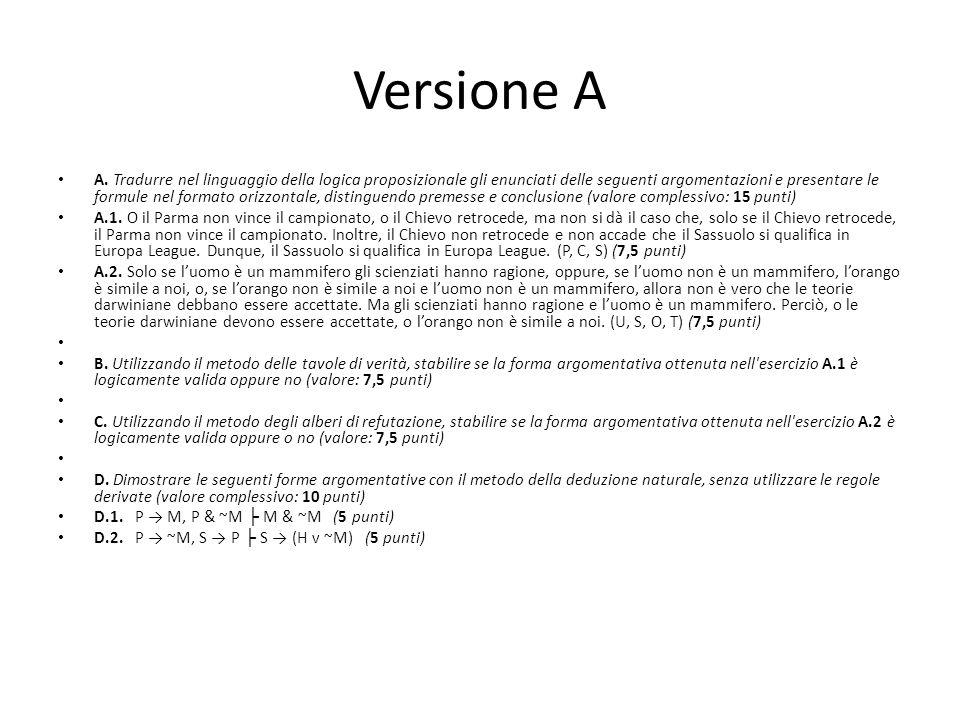 Versione A A.