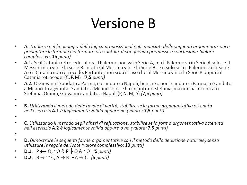 Versione B A.