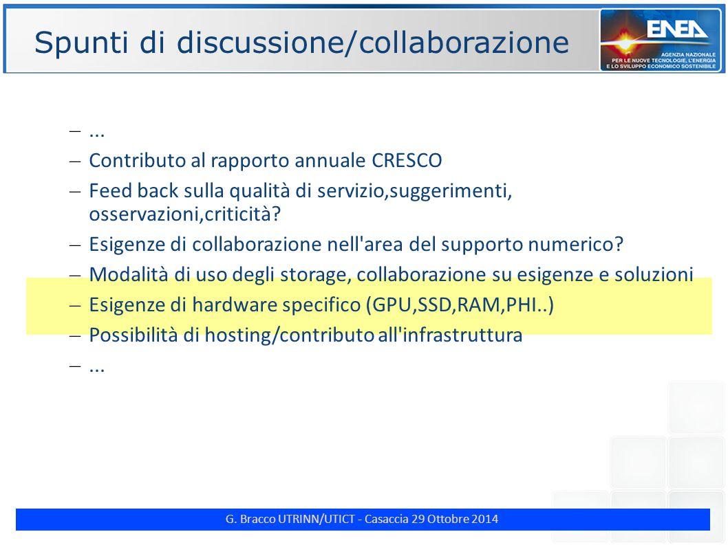 G. Bracco UTRINN/UTICT - Casaccia 29 Ottobre 2014 ENE Spunti di discussione/collaborazione –...