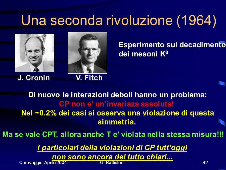 Caravaggio, Aprile 2004 G. Battistoni 42 Una seconda rivoluzione (1964) J.