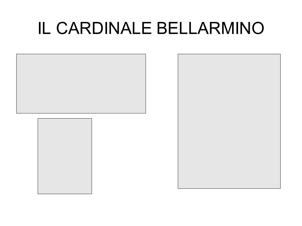 IL CARDINALE BELLARMINO