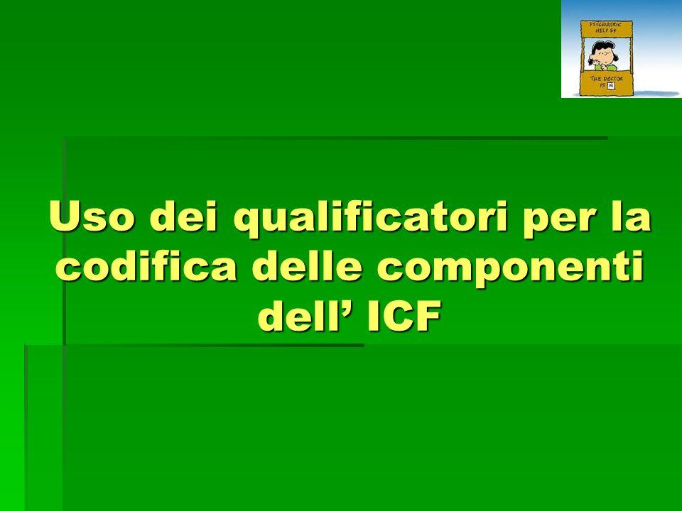 Uso dei qualificatori per la codifica delle componenti dell' ICF