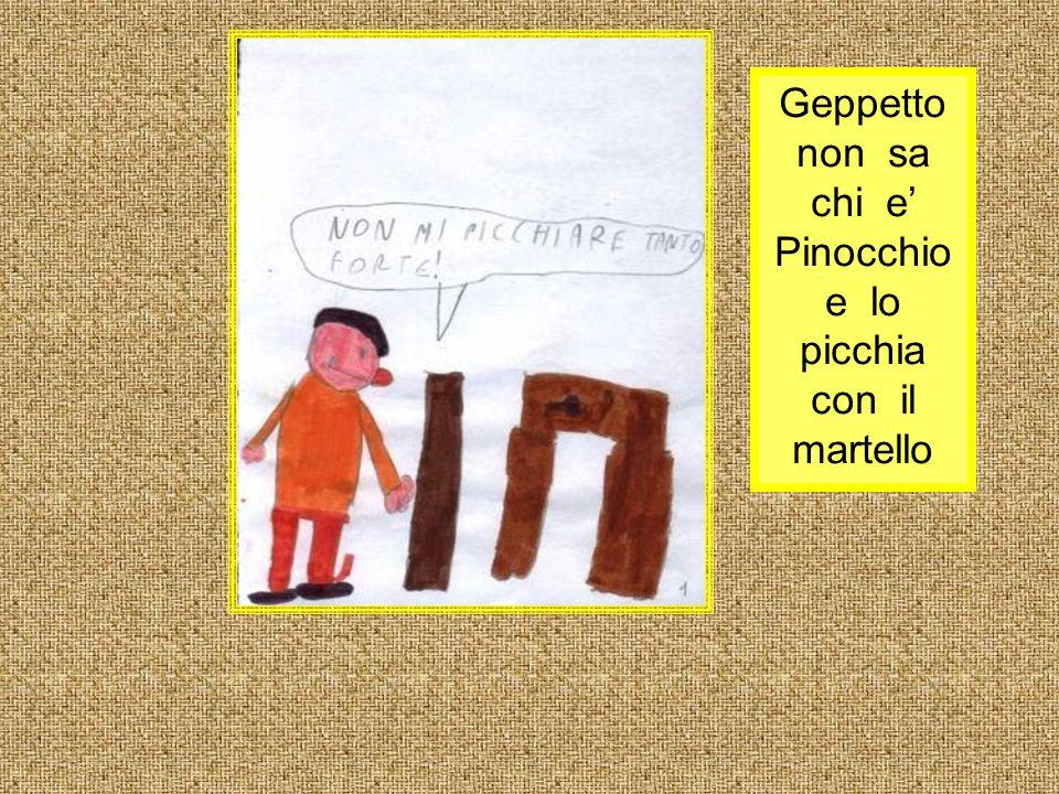 Pinocchio sale sull'uccello che lo porta alla spiaggia per vedere il pesce.