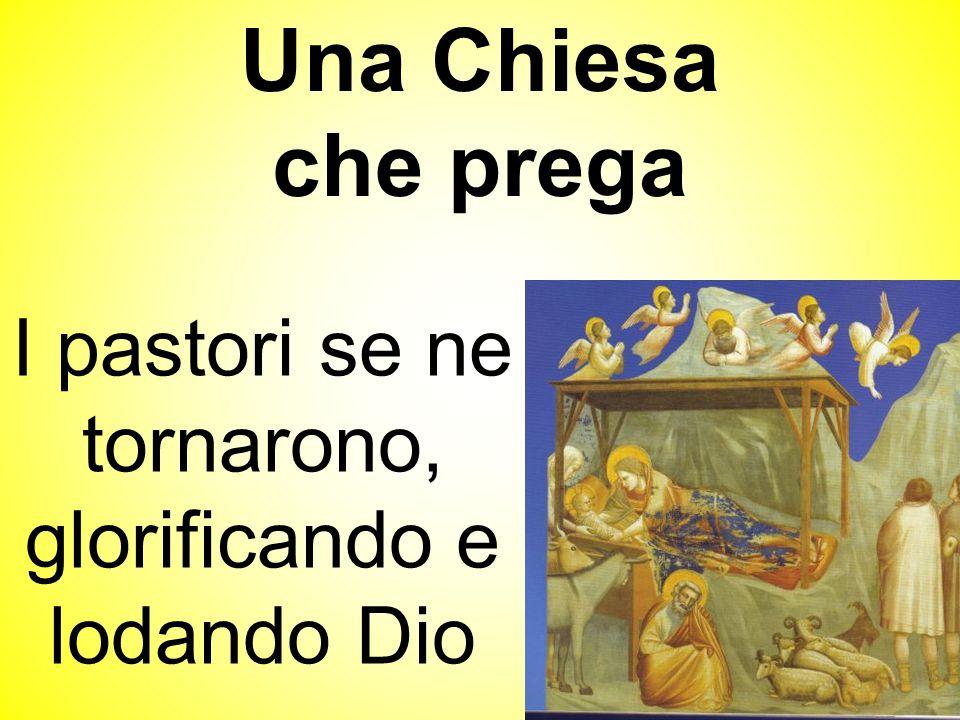 I pastori se ne tornarono, glorificando e lodando Dio Una Chiesa che prega