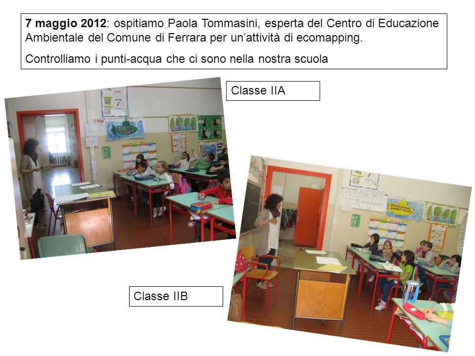 7 maggio 2012: ospitiamo Paola Tommasini, esperta del Centro di Educazione Ambientale del Comune di Ferrara per un'attività di ecomapping.