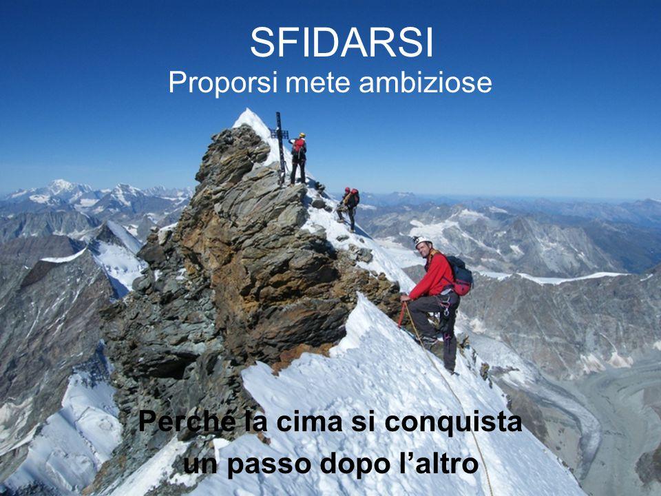 SFIDARSI Proporsi mete ambiziose Perché la cima si conquista un passo dopo l'altro