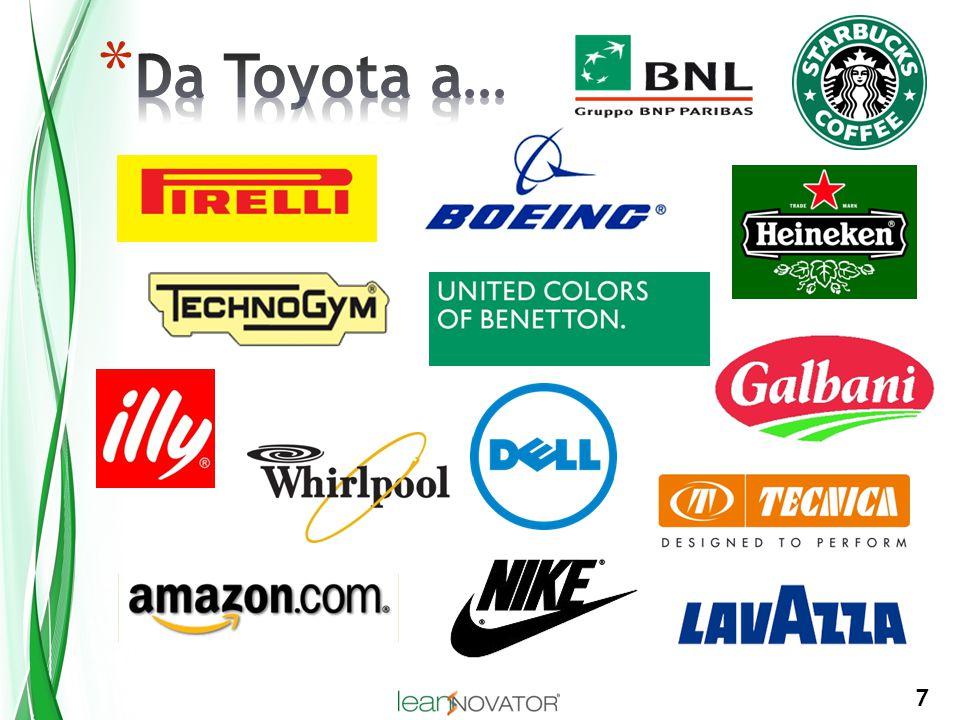 8 * Nessuna azienda è riuscita a migliorare e adattarsi tutti i giorni in tutti i processi in modo così sistematico, efficace e continuativo come Toyota * Quello che Toyota fa è insegnare (coaching) a tutte le sue persone il pensiero scientifico, che è una capacità fondamentale alla base del TMS e di tutti gli sforzi di miglioramento Scientific thinking