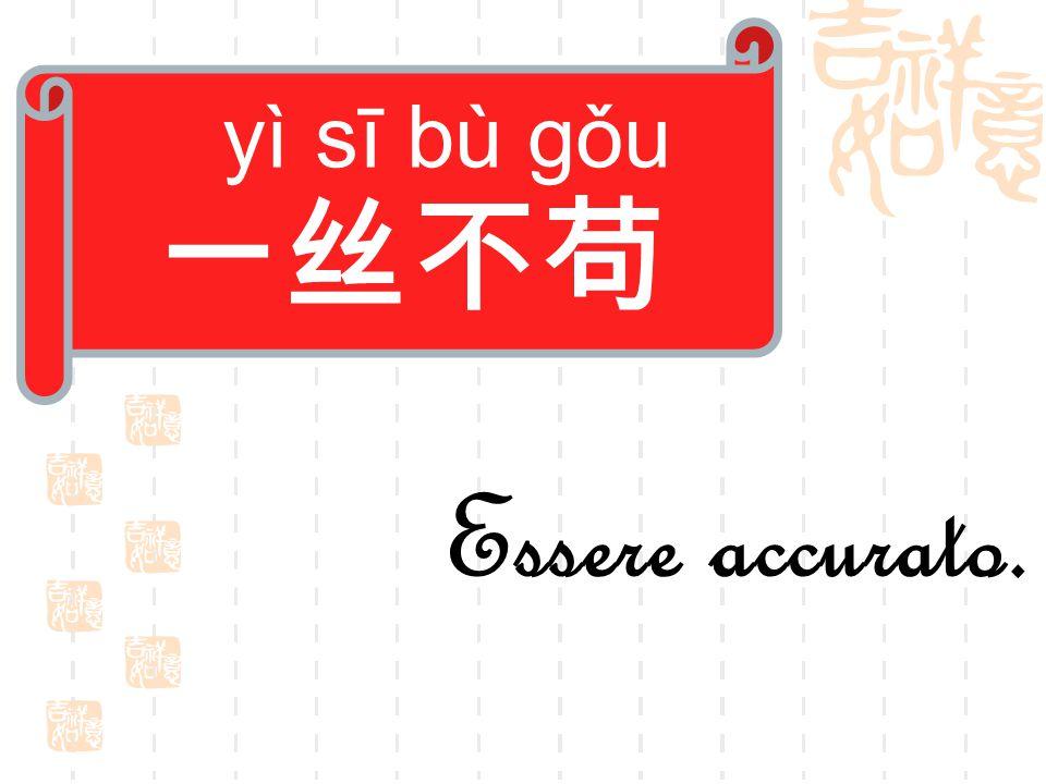 yì sī bù gǒu 一丝不苟 Essere accurato.