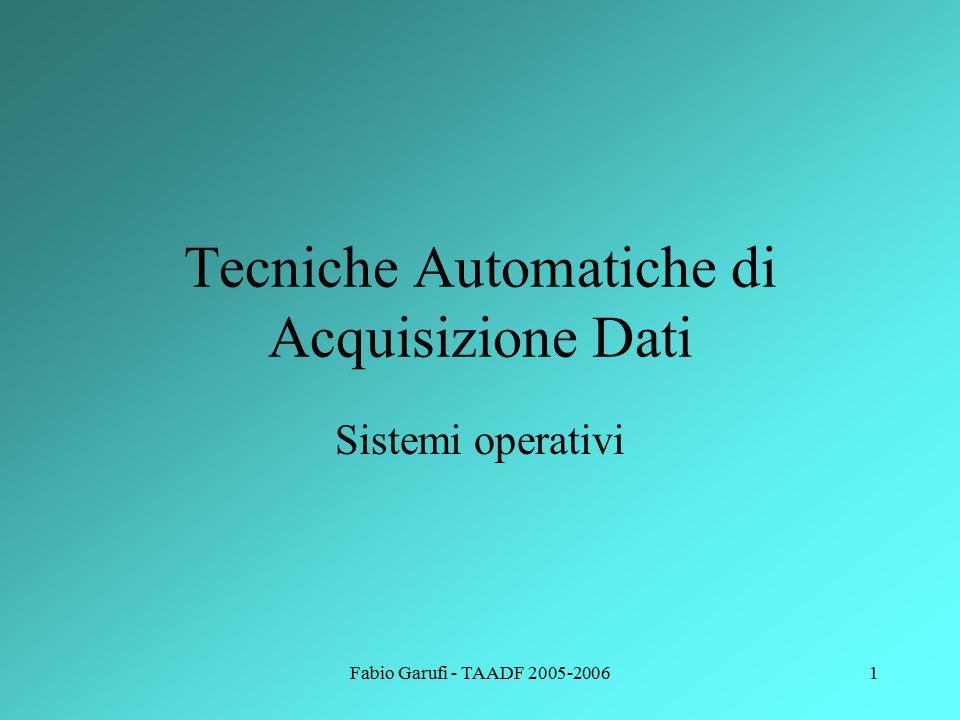 Fabio Garufi - TAADF 2005-20061 Tecniche Automatiche di Acquisizione Dati Sistemi operativi