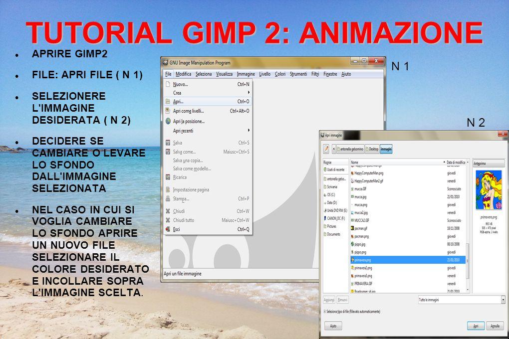 TUTORIAL GIMP 2: trasparenza Cliccare nuovamente su LIVELLO>TRASPARENZA>SOGLIA ALFA E COMPARE UN NUOVO RIQUADRO....