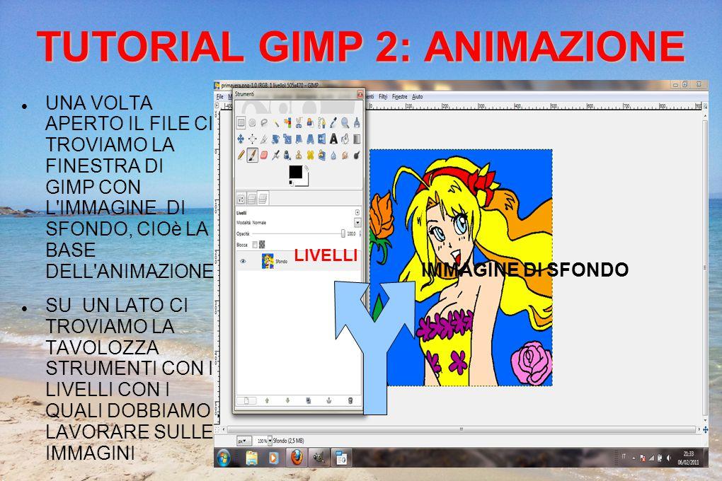 TUTORIAL GIMP 2: ANIMAZIONE PER AGGIUNGERE AI LIVELLI LE ALTRE IMMAGINI ANDARE SU FILE>APRI COME LIVELLI