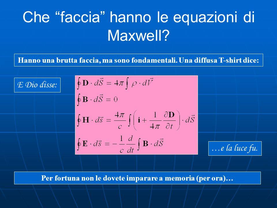 Le equazioni di Maxwell Il comportamento anomalo dell'ago consiste in questo: non rispetta l'azione lungo una congiungente (si dispone in senso perpen