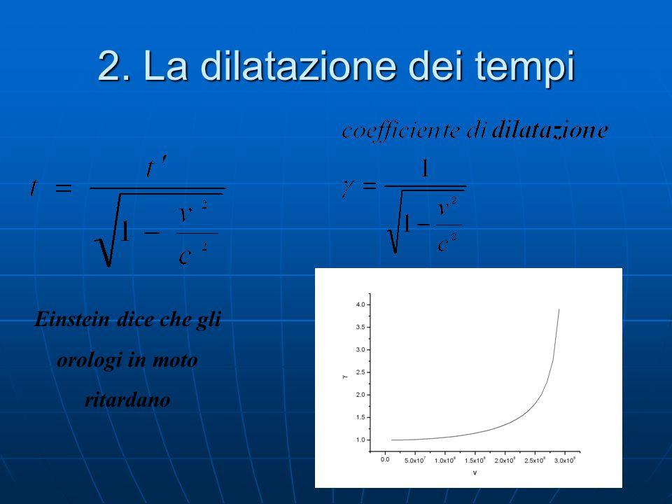 1. La dilatazione dei tempi h L d