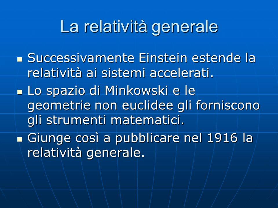 Dinamica relativistica - 2 Lo stesso vale per l'energia. Affinché rimanga costante deve essere definita così: Lo stesso vale per l'energia. Affinché r