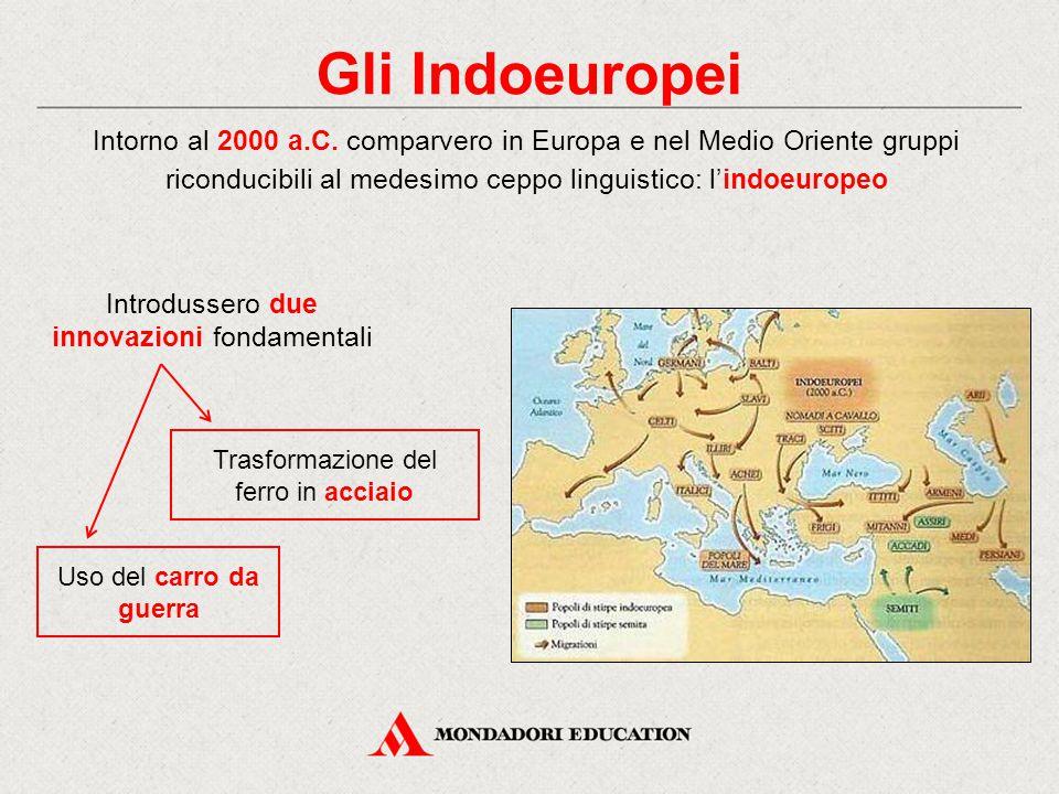 Gli Indoeuropei Intorno al 2000 a.C. comparvero in Europa e nel Medio Oriente gruppi riconducibili al medesimo ceppo linguistico: l'indoeuropeo Introd