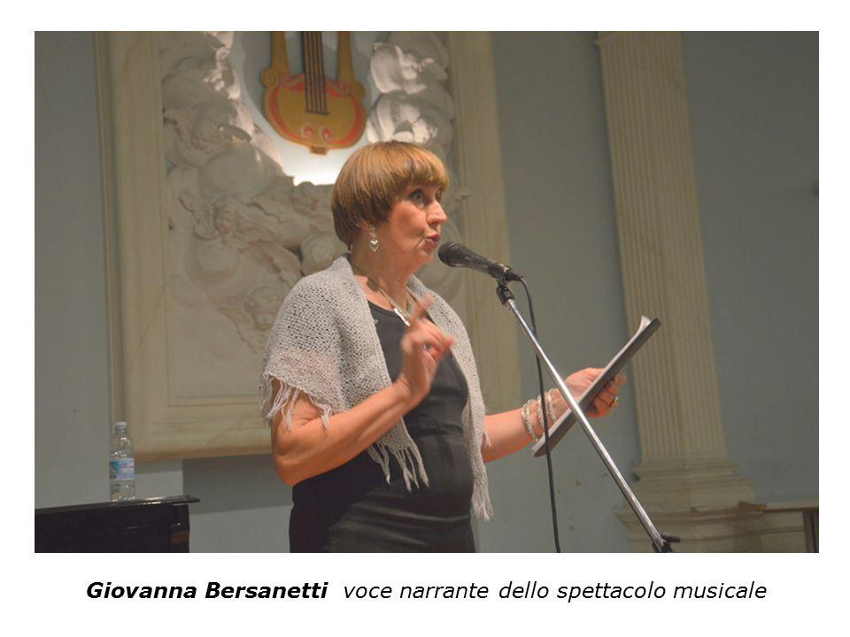 Giovanna Bersanetti voce narrante dello spettacolo musicale