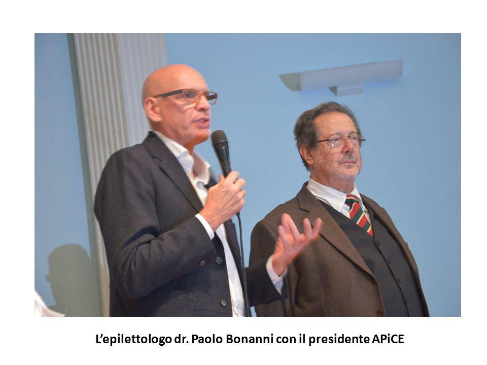 L'epilettologo dr. Paolo Bonanni con il presidente APiCE