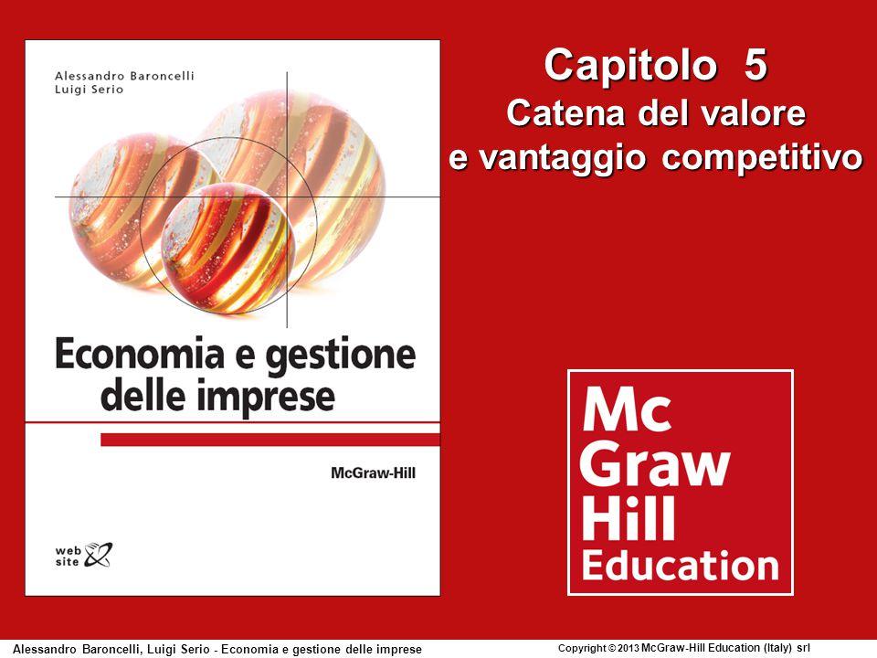 Capitolo 5 Catena del valore e vantaggio competitivo Alessandro Baroncelli, Luigi Serio - Economia e gestione delle imprese Copyright © 2013 McGraw-Hill Education (Italy) srl