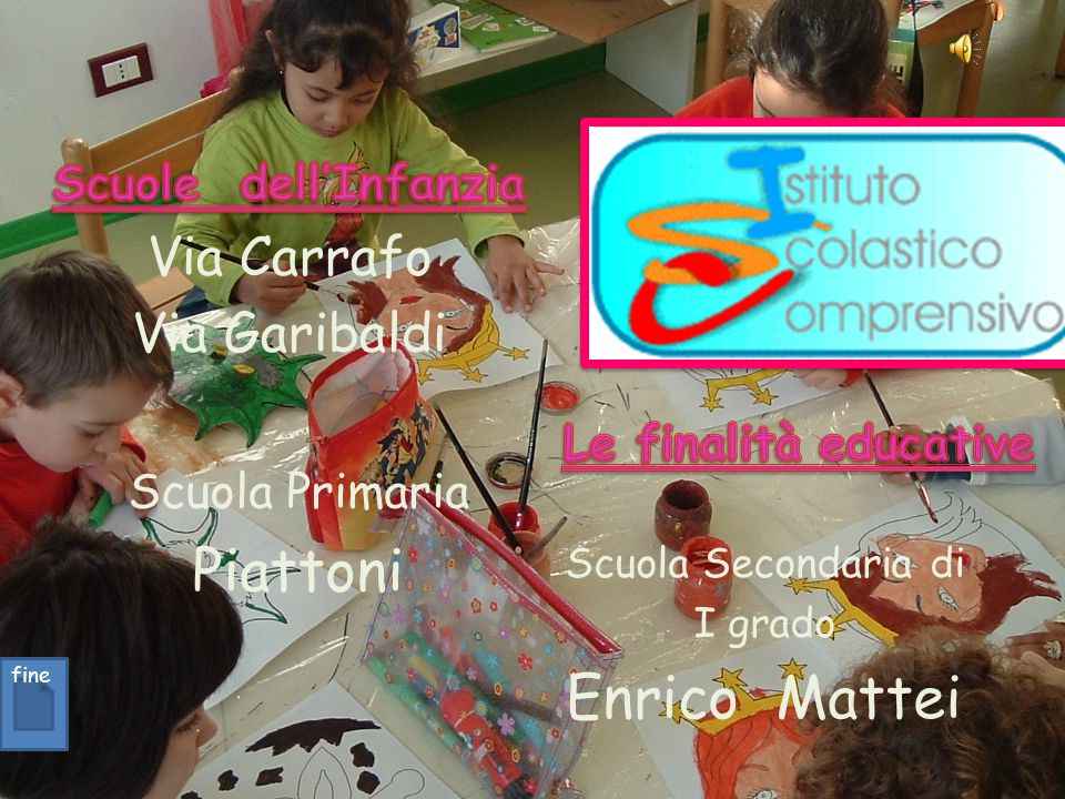 Scuola Primaria Piattoni Scuola Secondaria di I grado Enrico Mattei fine