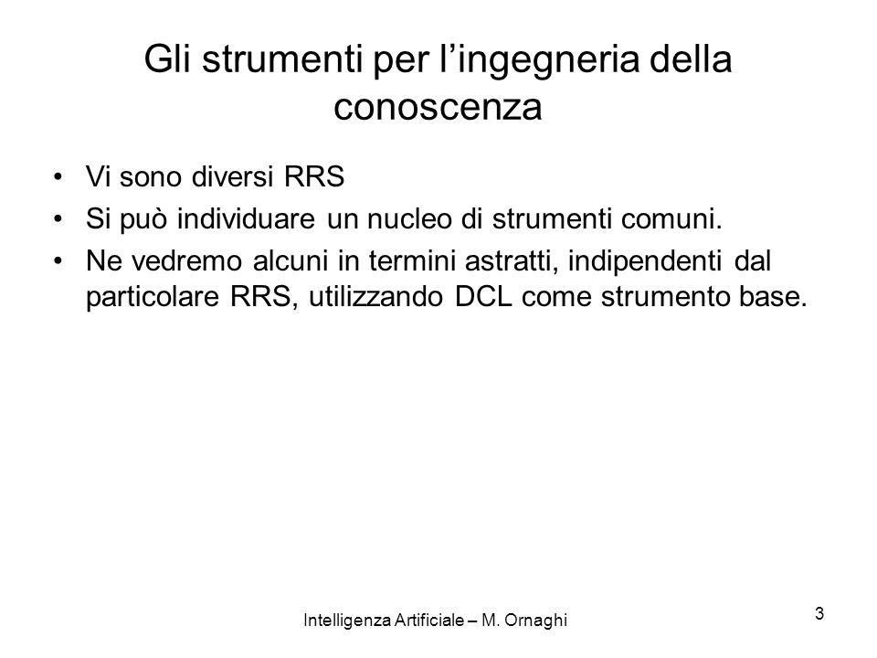 Intelligenza Artificiale – M.