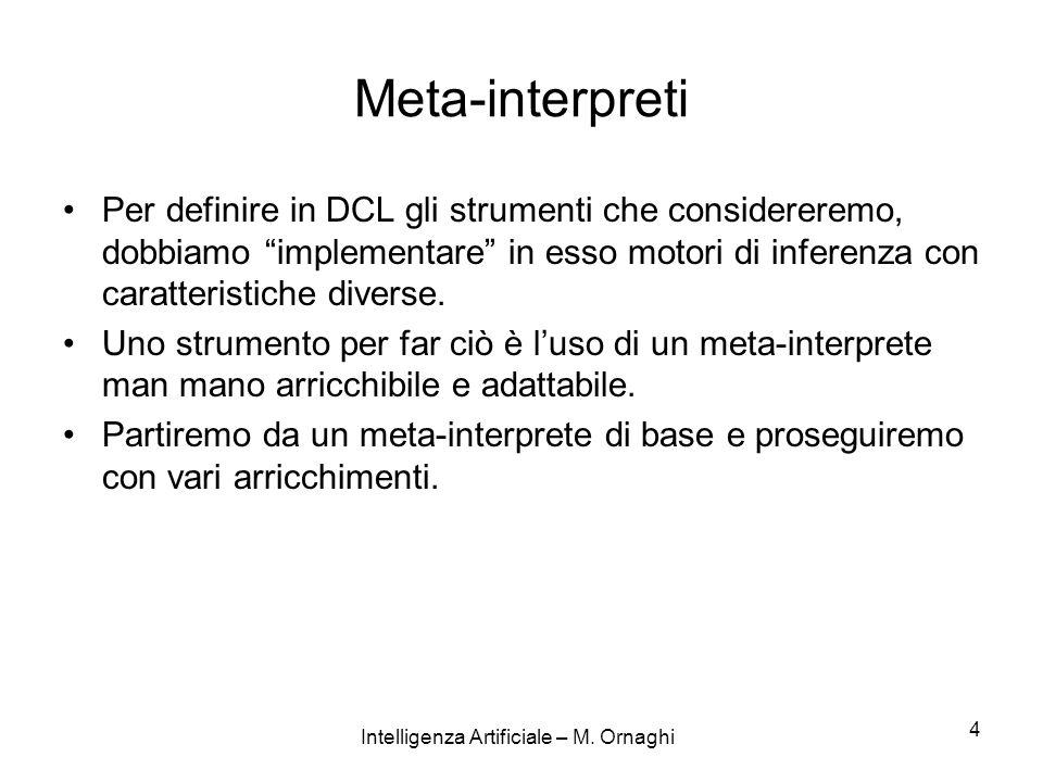 Intelligenza Artificiale – M.Ornaghi 15 how(true,true).
