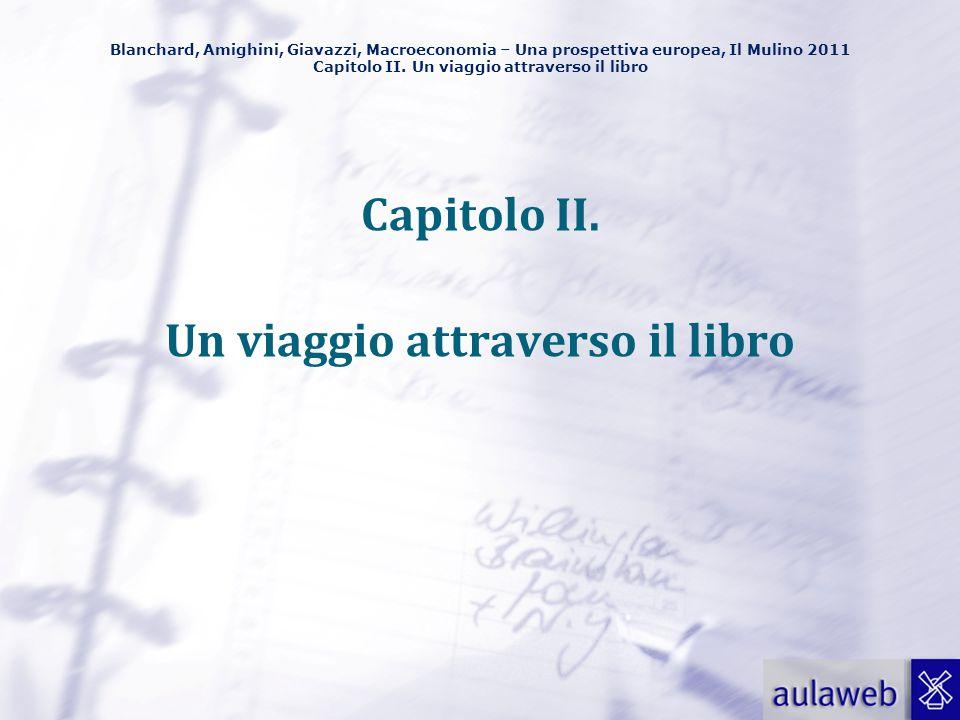 Blanchard, Amighini, Giavazzi, Macroeconomia – Una prospettiva europea, Il Mulino 2011 Capitolo II. Un viaggio attraverso il libro Capitolo II. Un via
