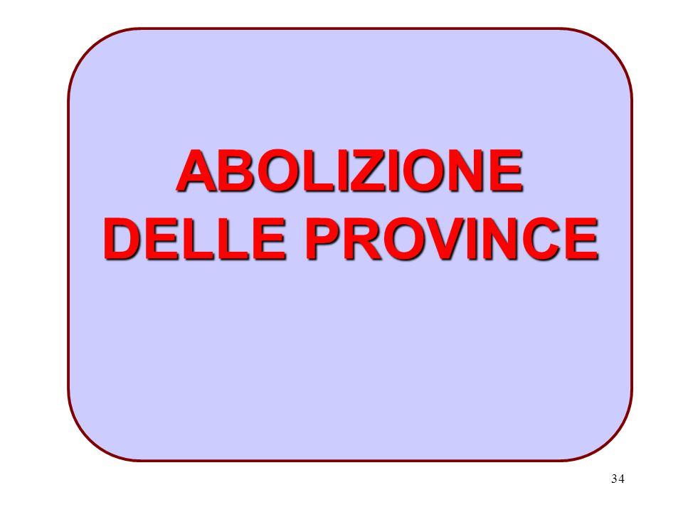 34 ABOLIZIONE DELLE PROVINCE