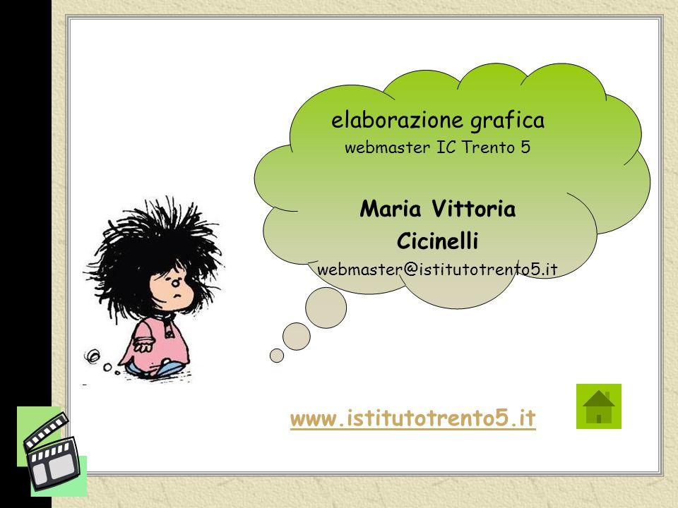 elaborazione grafica webmaster IC Trento 5 Maria Vittoria Cicinelli webmaster@istitutotrento5.it www.istitutotrento5.it