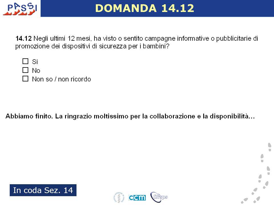 In coda Sez. 14 DOMANDA 14.12