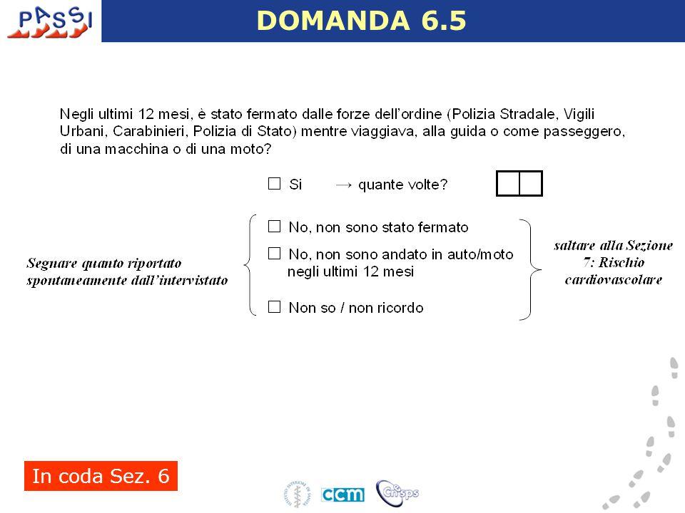 In coda Sez. 6 DOMANDA 6.5