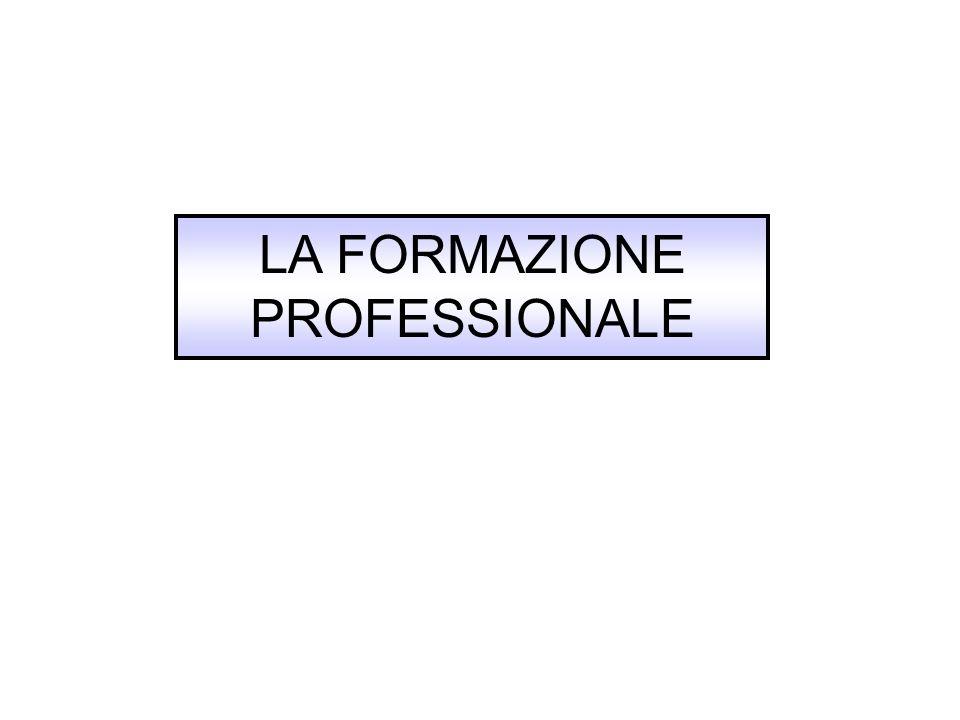 LA FORMAZIONE PROFESSIONALE