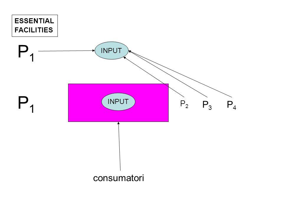 ESSENTIAL FACILITIES INPUT consumatori P1P1 P2P2 P3P3 P4P4 P1P1