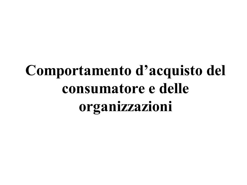 Comportamento d'acquisto del consumatore e delle organizzazioni