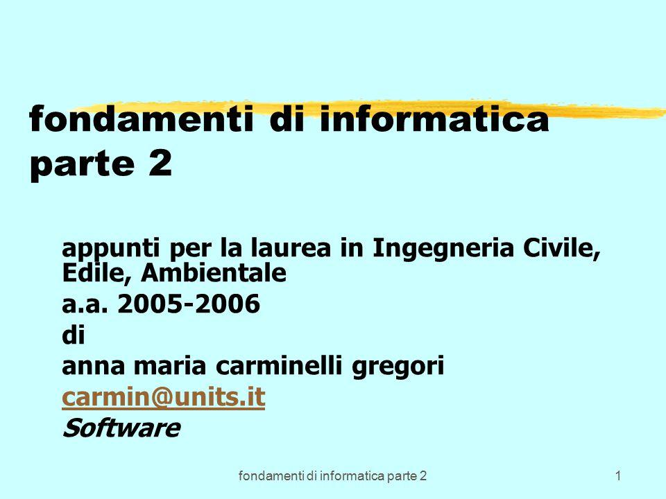 fondamenti di informatica parte 21 appunti per la laurea in Ingegneria Civile, Edile, Ambientale a.a.