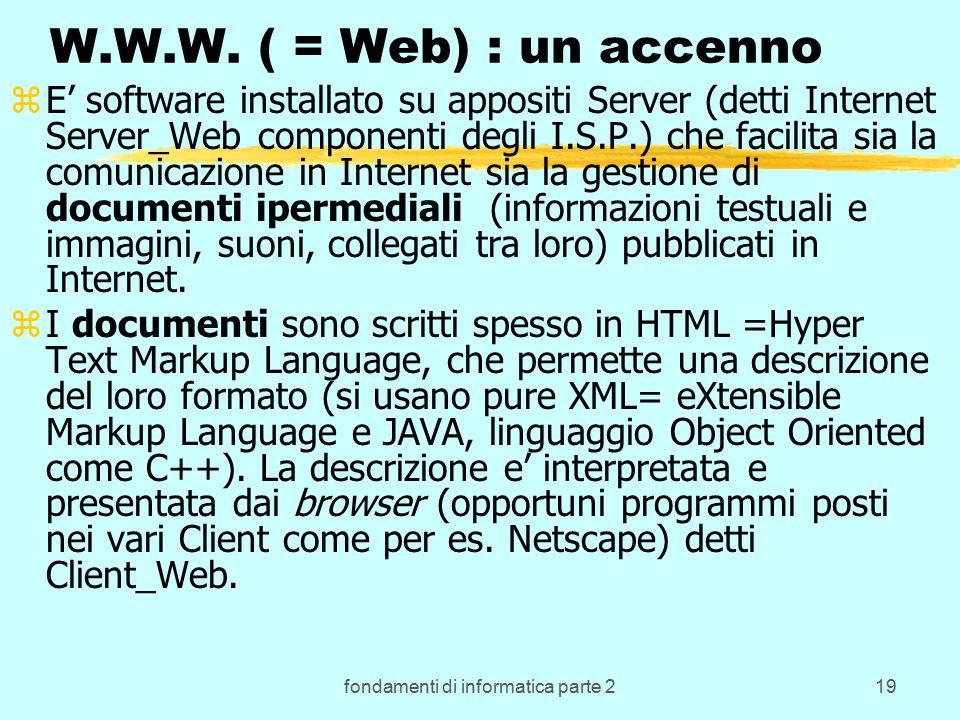 fondamenti di informatica parte 219 W.W.W.